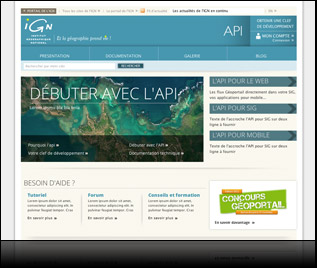 IGN api - intégration html